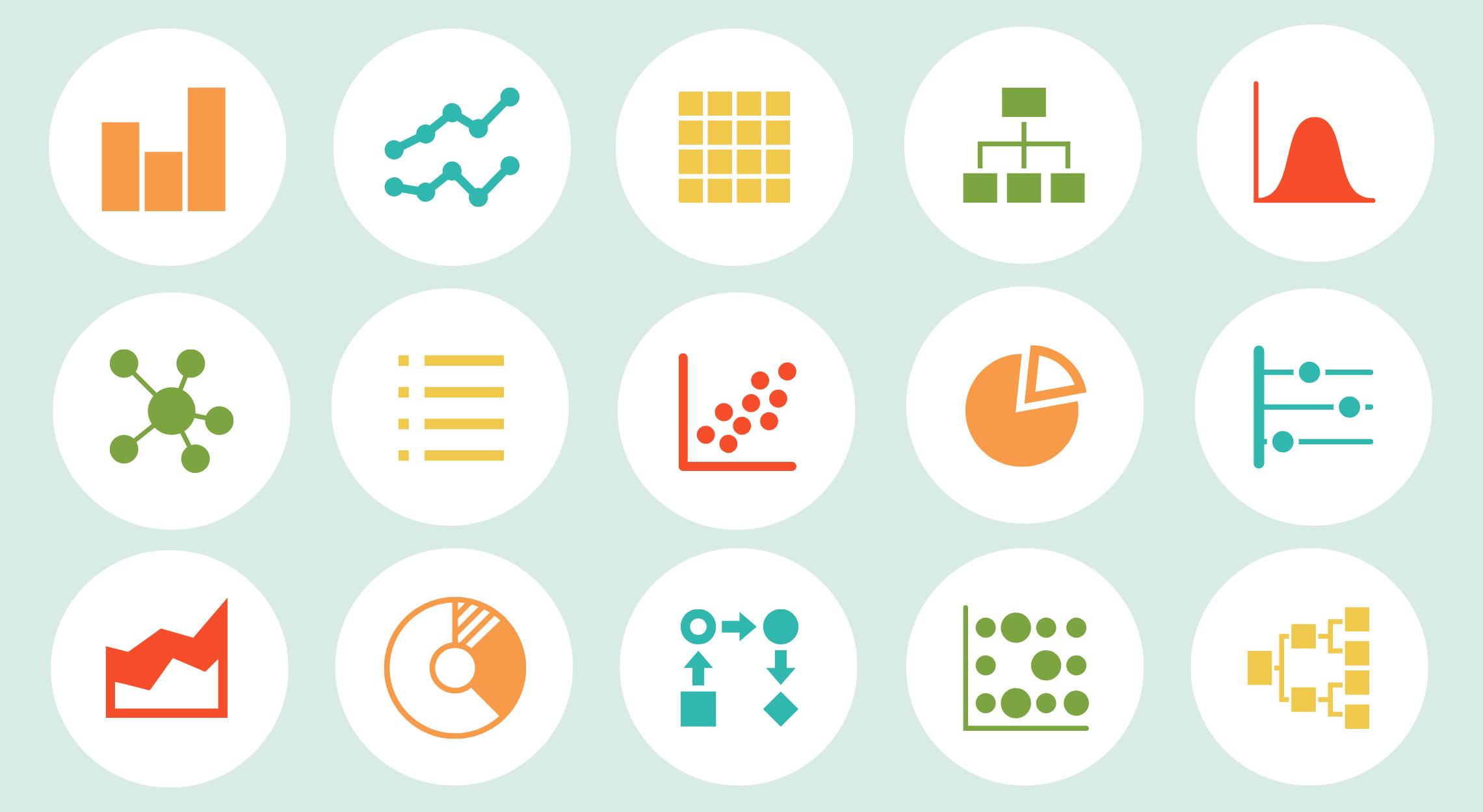 Elige los mejores gráficos para tu infografía