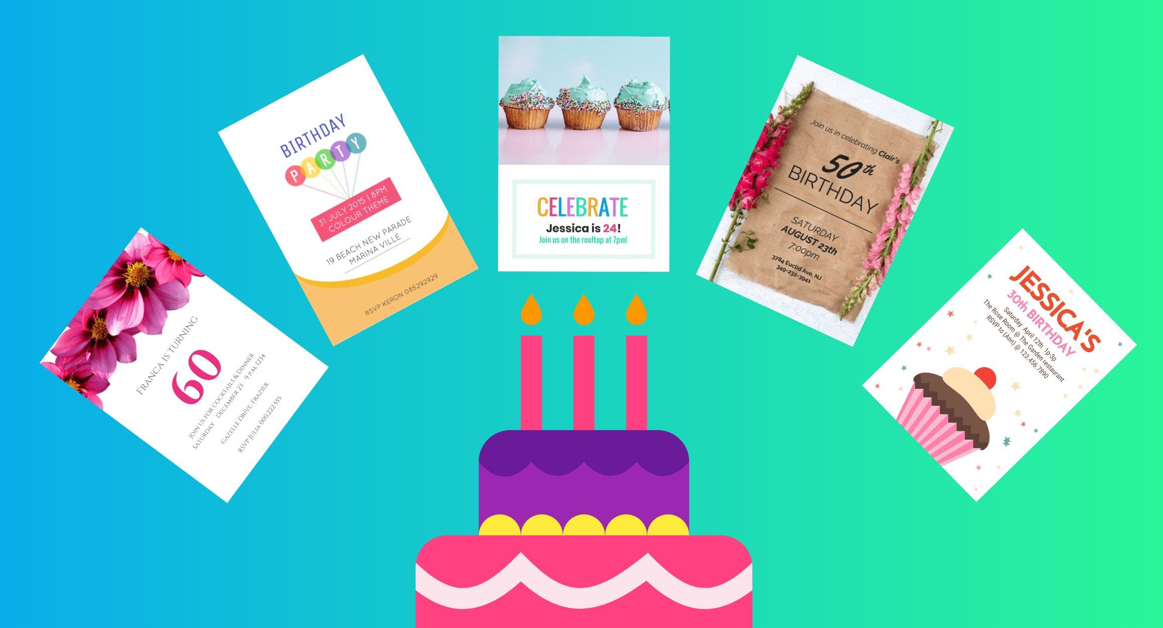 Tarjetas cumpleaños Venngage